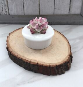 *Rare* Vintage Aynsley Trinket Box with Pink Carnation Flower