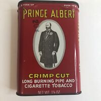 Vintage Old Prince Albert Crimp Long Burning Pipe & Cigarette Tobacco Tin Can