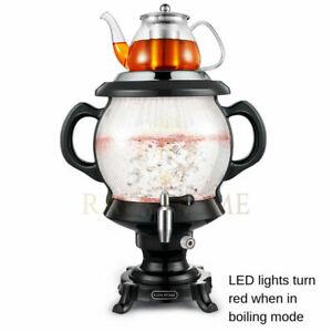 Glass Samovar, Tea Maker & Persian , Black , 150 oz , 4.5 L   FREE SHIPPING