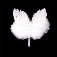 Infant Newborn Boy Girl Fairy Feather Pure white Angel Wings Decor TY