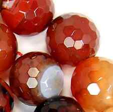 """18mm Faceted Red Agate Round Beads 15"""""""