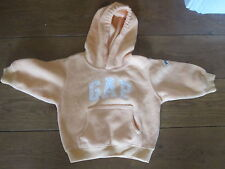 GAP YELLOW FLEECE JUMPER  AGE 6-12 MONTHS