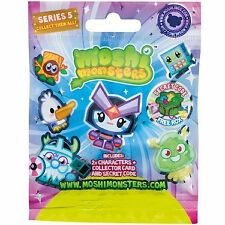 Moshi Monsters Series 5 Random Sealed Foil Blind Bag incl 2 moshlings 78014