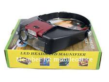 KaSul®  Tools| Kopflupe USTA-2R* ROT / 2x LED / 10x Vergrößerung / 180 Gramm DHL