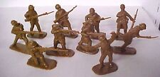 20 French AIP plastic soldiers in Adrian helmets (BROWN) army men # 5404