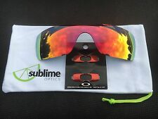 OAKLEY BATWOLF  POLARISED FIRE RED Lense  w/METALLIC RED icons