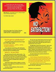 Gospel Outreach Leaflets Tracts NO SATISFACTION MICK JAGGER 100 Pack