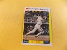 1982 Topps Kmart  #44 Pete Rose Philadelphia Phillies 1981 MVP