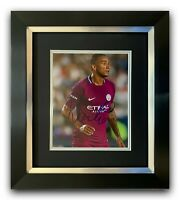 DANILO HAND SIGNED PHOTO FRAMED DISPLAY - MANCHESTER CITY.