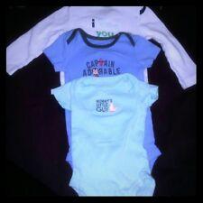 Carters Baby Boy One Piece 3 piece bundle 3 sizes: nb/0-3/6-9