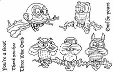Unmounted rubber stamps Owls
