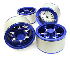 C26619BLUE Integy 2.2 Size Billet Alloy 6V Spoke Wheel(4)High Mass for Crawler