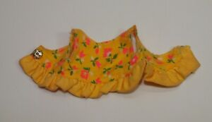 Vintage Skipper # 1513 YOUNG IDEAS Yellow Floral Midi Top SEARS EXCLUSIVE