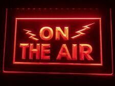 On The Air Led Neon Light Sign Radio Recording Studio Bar Club Pub Advert Home