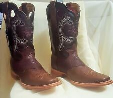 Western Cowboy Riding Rodeo Boots Sz 9 Two Tone Leather
