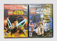 LEGO Star Wars I & II Original Trilogy (Playstation 2) PS2 Game Bundle Tested