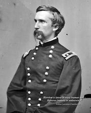 New 8x10 Civil War Photo: Col. Joshua Lawrence Chamberlain with Famous Quote