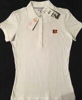 78944357e NWT NFL Cincinnati Bengals Women s Antigue Short Sleeve Golf Polo Shirt  Medium