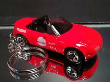 Red 1991 Mazda MX-5 Miata Key Chain Ring