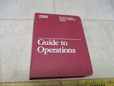 VTG IBM PCJR Computer Hardware Reference Library Guide Operations Binder PC Jr