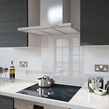 Clear - 60cm x 60cm Glass Splashback with Fixing Holes
