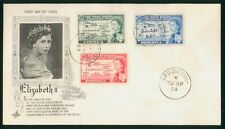 Mayfairstamps West Indies FDC 1958 Queen Elizabeth II Map Combo First Day Cover