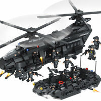 1351pcs SWAT Team Transport Helicopter Building Blocks Bricks DIY Toys Kids Gift