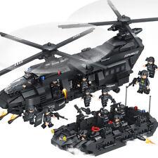 1351pcs SWAT Team Transport Helicopter Building Blocks Bricks DIY Toys Kids Gift