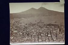 altes Foto Albumin Napoli Panorama preso da San Martino um 1880