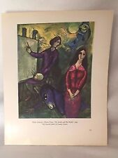 Marc Chagall The Artist and His Model Wilfredo Lam Jungle Vintage Print 20820