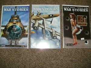 LOT 3 WAR STORIES 1 3 6 W/ 2 VARIANTS - GARTH ENNIS - COMBINED SHIPPING - NM