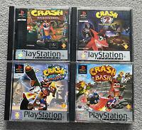 Crash Bandicoot Bundle PS1 PS2 PS3 Playstation 1 PAL Platinum 1 2 3 Crash Bash