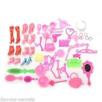 50 x bundle toy doll  accessories shoes hangers bags tiara set BC35