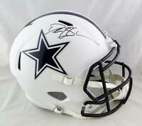 Deion Sanders Signed Dallas Cowboys F/S Flat White Helmet - Beckett W Auth *Blue