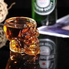 1Pc New Glass Skull Head Vodka Whiskey Shot Glass Cup Drinking Ware Home Bar Cup