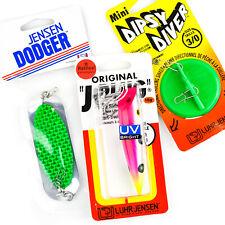 MIX LOT - LUHR JENSEN Dipsy Diver Mini 3/0 Dodger 4/0 J Plug Trolling Lure