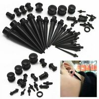 SchraubTunnel schwarz 1,2mm-24mm verschiedene Sets Dehner Tunnelset Flesh Plug