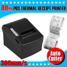300mm/sec 80mm POS Thermal Dot Receipt Printer Auto Cut Usb/ethernet Lightweight