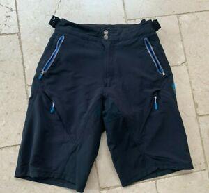 Madison Addict Black Shorts M:tech Cycle Mountain bike baggy Showerproof Large L