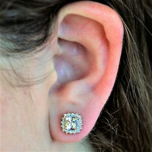 NATURAL MORGANITE EARRINGS 32 GENUINE DIAMONDS 9K 375 ROSE GOLD GIFT BOXED NEW