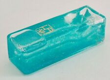 Krave FREEZABLE glass hand pipe Teal Glitter - Ice cube design - Cryo glycerin