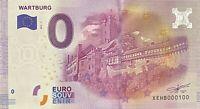 BILLET 0  EURO  WARTBURT ALLEMAGNE RARE 2016 NUMERO 100