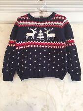 NWT Janie And Jack Boys Fair Isle Reindeer Sweater 4  4T