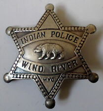 Indian Police Wind River Old Western Inspired Replica Pin Back