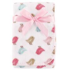 "Luvable Friends Baby Girls Printed Fleece Blanket Birdies 30"" x 40"" New"