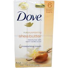 Shea Butter Moisturizing Cream Bath Bar by Dove for Unisex - 6 x 4 oz Soap
