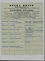 Manchester Opera House 1951 Programme Flyer Laurence Olivier & Vivien Leigh etc