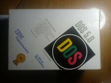 "Sealed NIB vintage DOS 5.0 IBM 3.5"" floppy discs - never opened, still wrapped"