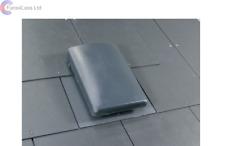 "Slate Roof Cowl Vent Fan Extractor Ventilator Grey DIA 4"" 5"" 6"" Connector"