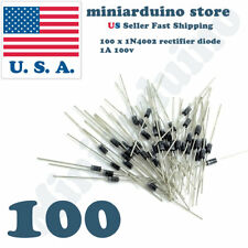 100pcs 1N4002 IN4002 1A 100V Rectifier Diode USA SELLER Fast Shipping 4002